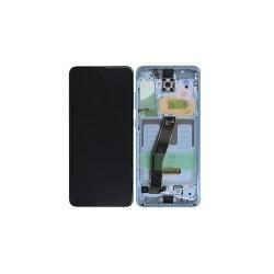 Γνήσια Οθόνη LCD και Μηχανισμός Αφής με Πλαίσιο για Samsung Galaxy S20 G980F / G981B GH82-22131D Μπλε