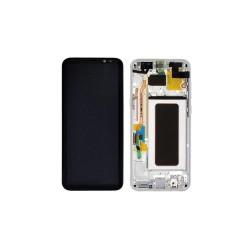 Γνήσια Οθόνη LCD Και Μηχανισμός Αφής με Πλαίσιο για Samsung Galaxy S8 Plus G955 GH97-20564B Ασημί