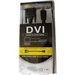 Καλώδιο HDMI DVI M/M 1,8μ