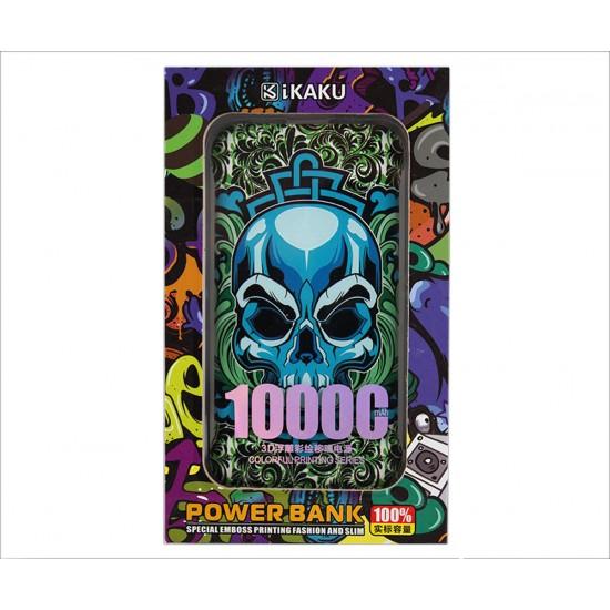 Φόρτιση-Power Bank IKAKU 10000mah Skull