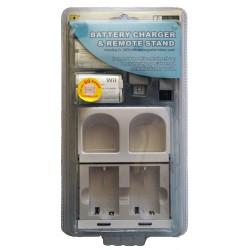 Διπλή βάση φόρτισης χειριστηρίων Wii + 2 μπαταρίες